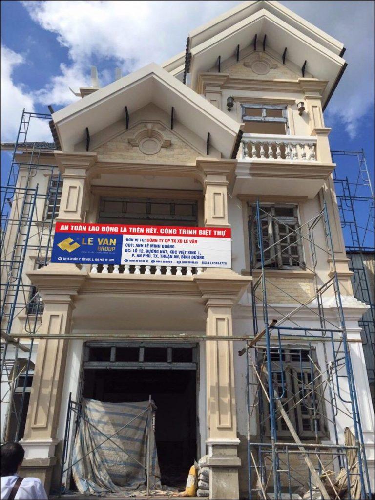 Công trình biệt thự anh Lê Minh Quảng tại Bình Dương