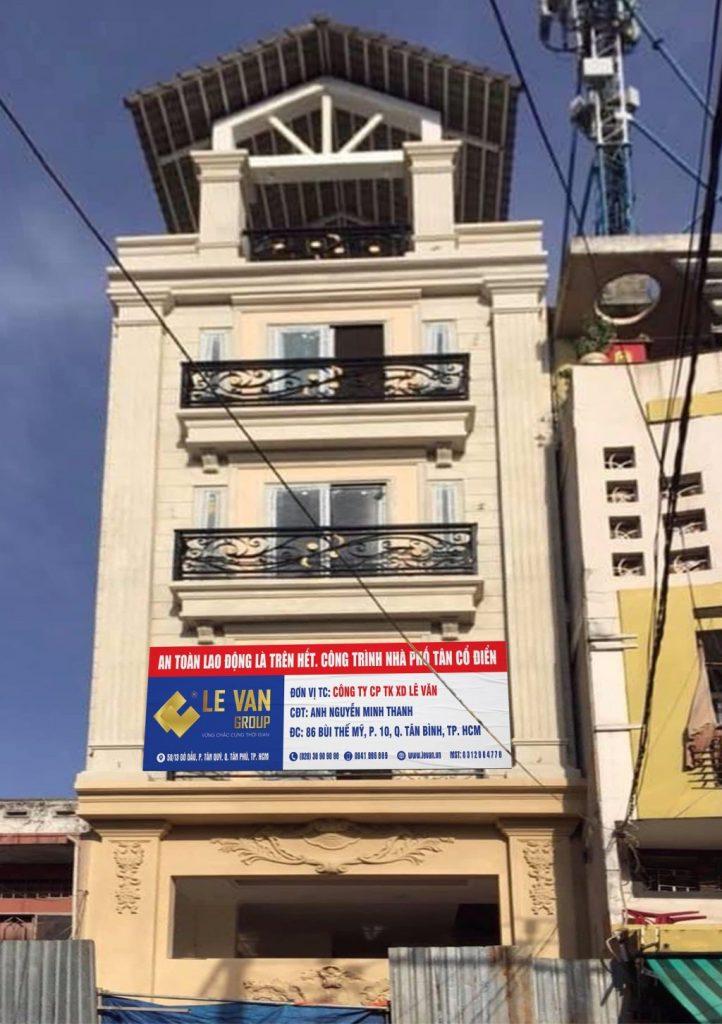 Công trình nhà phố tân cổ điển anh Nguyễn Minh Thanh tại Quận Tân Bình