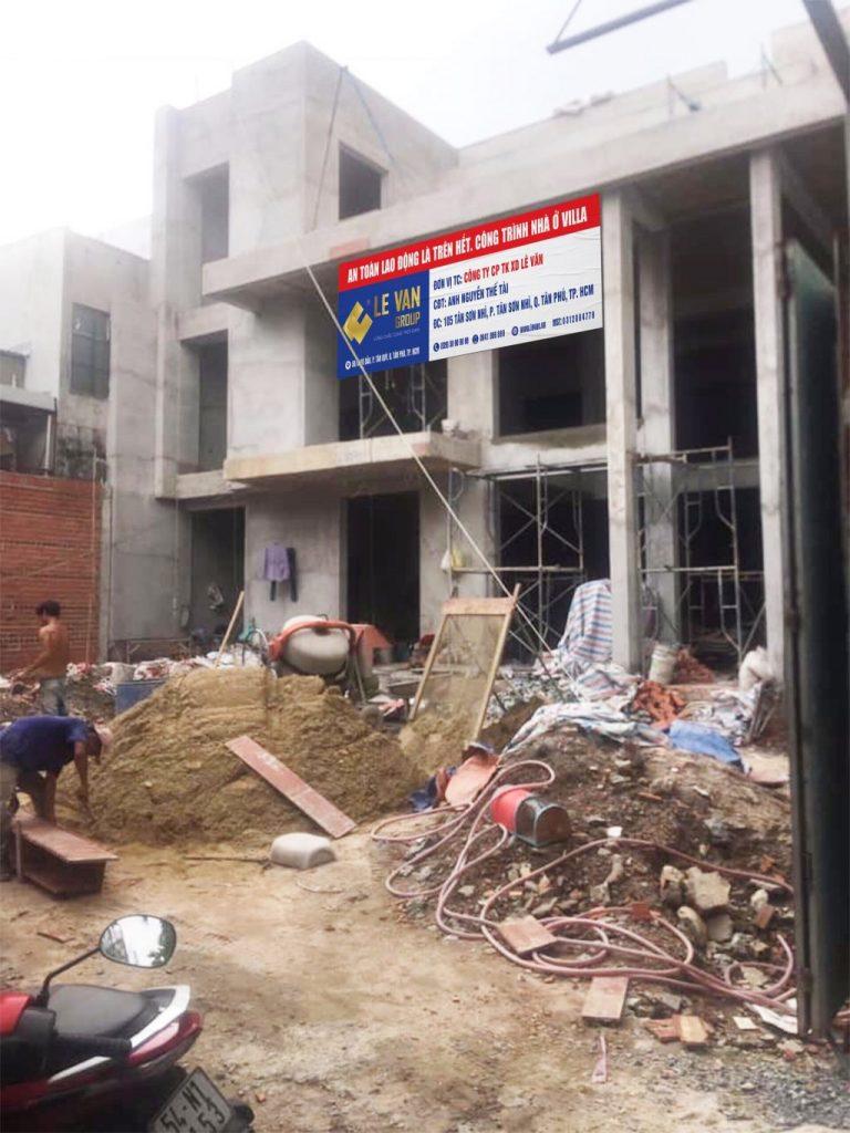 Công trình nhà ở Villa anh Nguyễn Thế Tài tại Quận Tân Phú